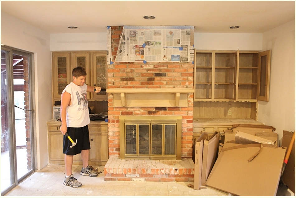 how to how to whitewash stone fireplace : DIY White Washing Fireplace - Run To Radiance