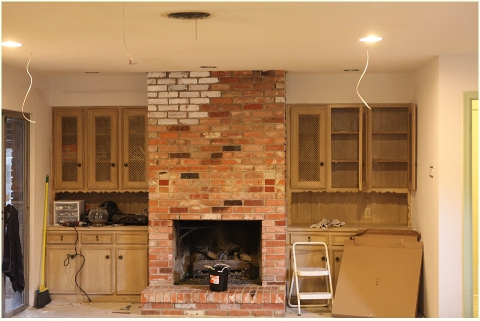 Diy White Washing Fireplace Run To Radiance