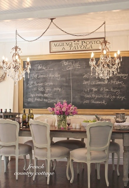 dining room chalkboard wall run to radiance