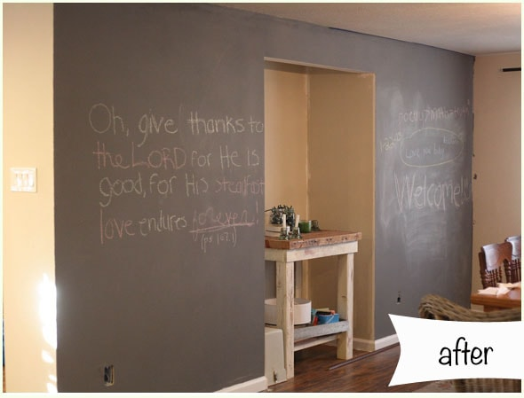 dining room chalkboard wall - run to radiance