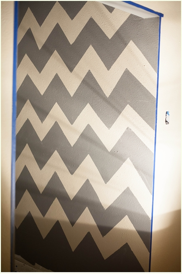 How To Paint A Chevron Wall Run To Radiance Delectable How To Paint A Chevron Pattern