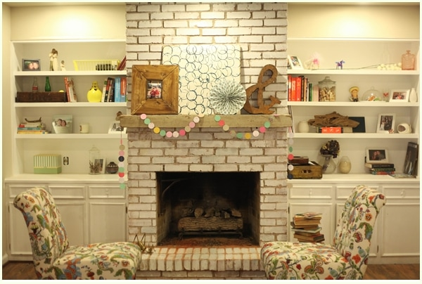 To Get The Fireplace Where It Is Today We Removed Dated Pieces And White Washed Painted Repaired Bookshelves Then Styled