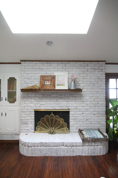 How To Whitewash A Brick Fireplace Easy 1 Hour Project