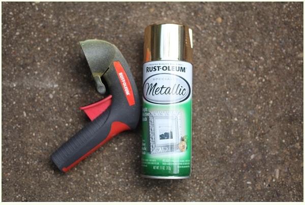 Rust Oleum Metallic gold spray paint