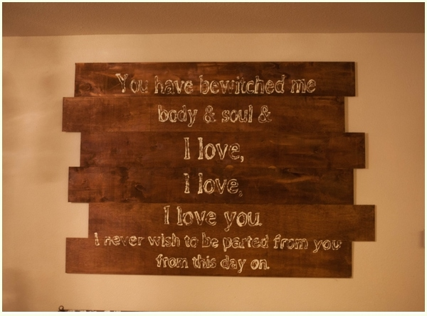 DIY halloween decor for the romantic with book-inspired quote.