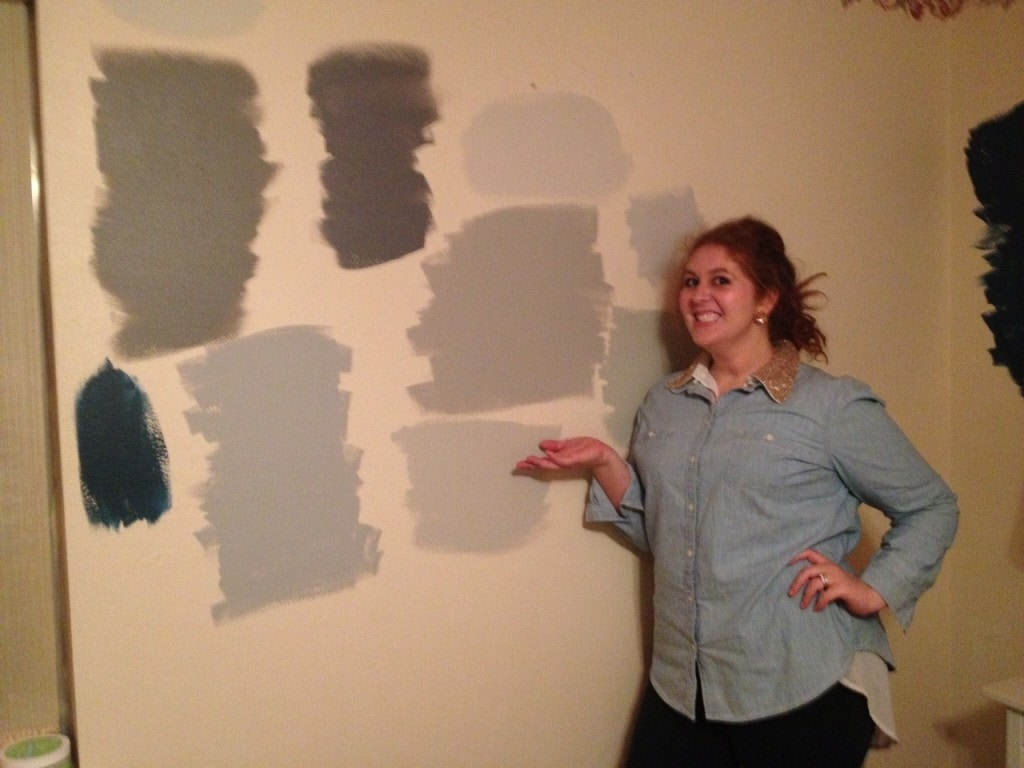 Now We Arent Afraid To Walk In Our Room But There Are Still All These Paint Swatches On The Wallin Fact They Same Four Walls