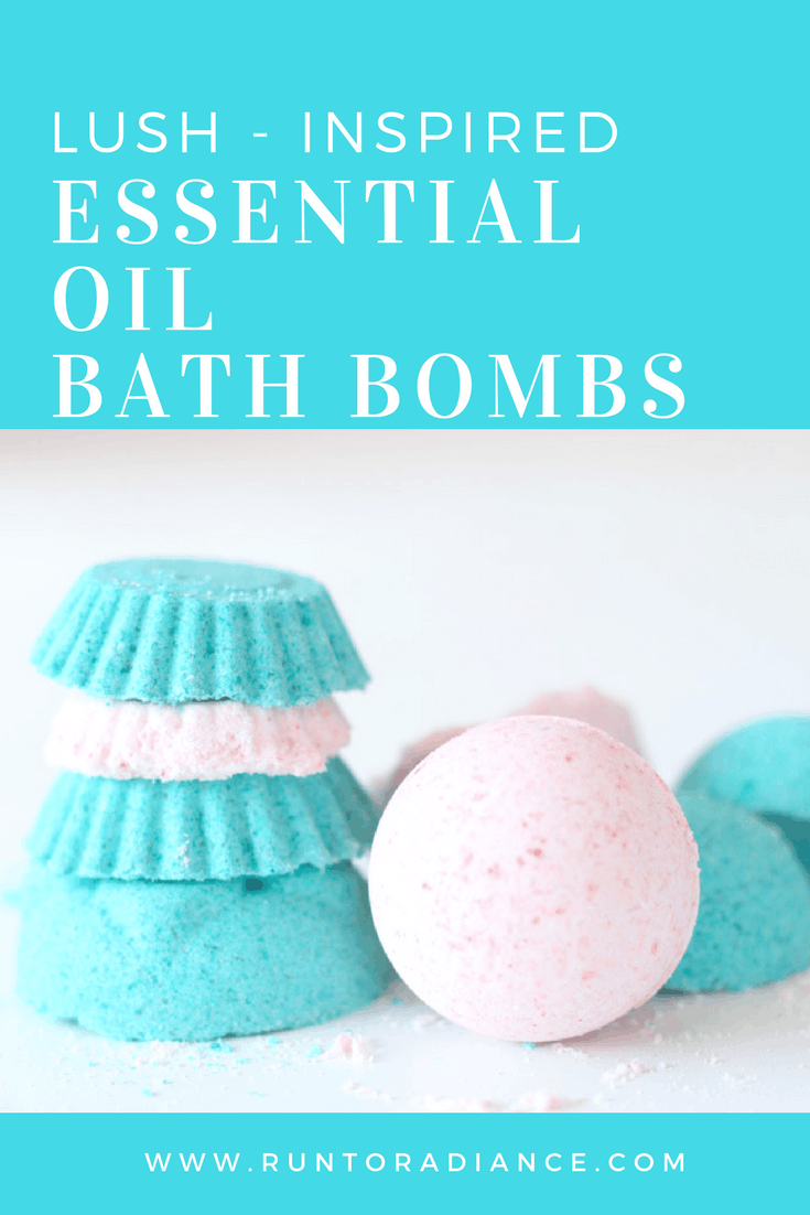 colorful bath bombs using essential oils