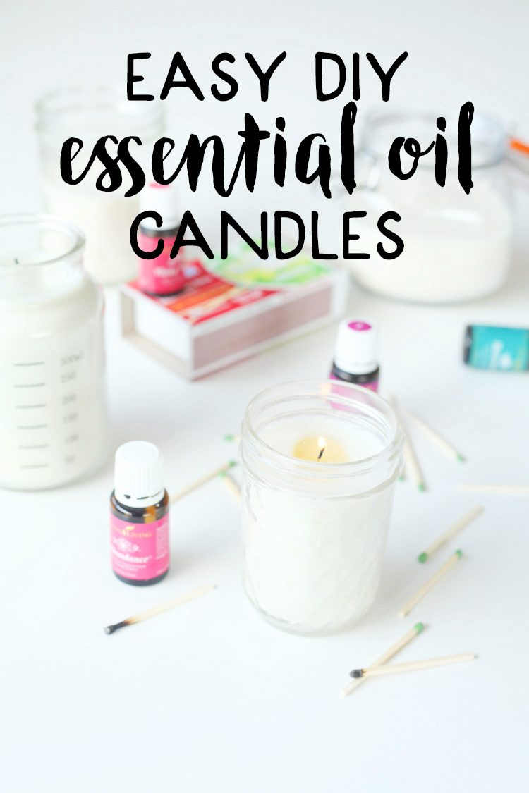 Candles with essential oils- do it yourself gift ideas