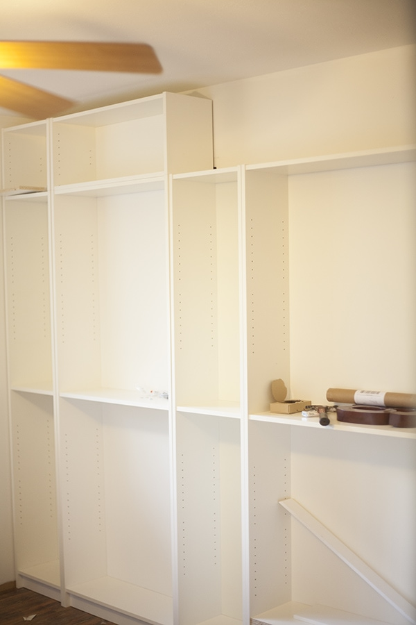 DIY Ikea Billy Bookcase Built In Bookshelves Run To Radiance - Diy billy bookcase