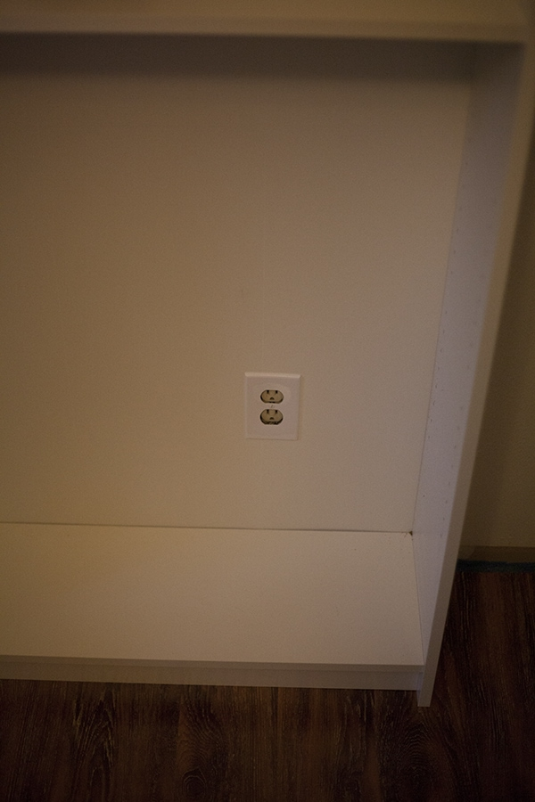Electric outlet in Billy Bookcase