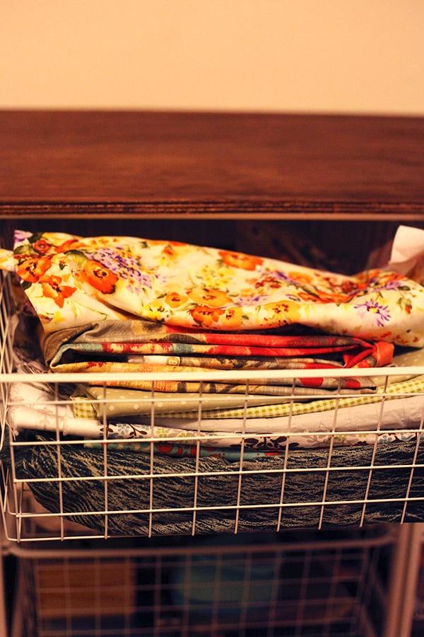 craft room fabric drawer