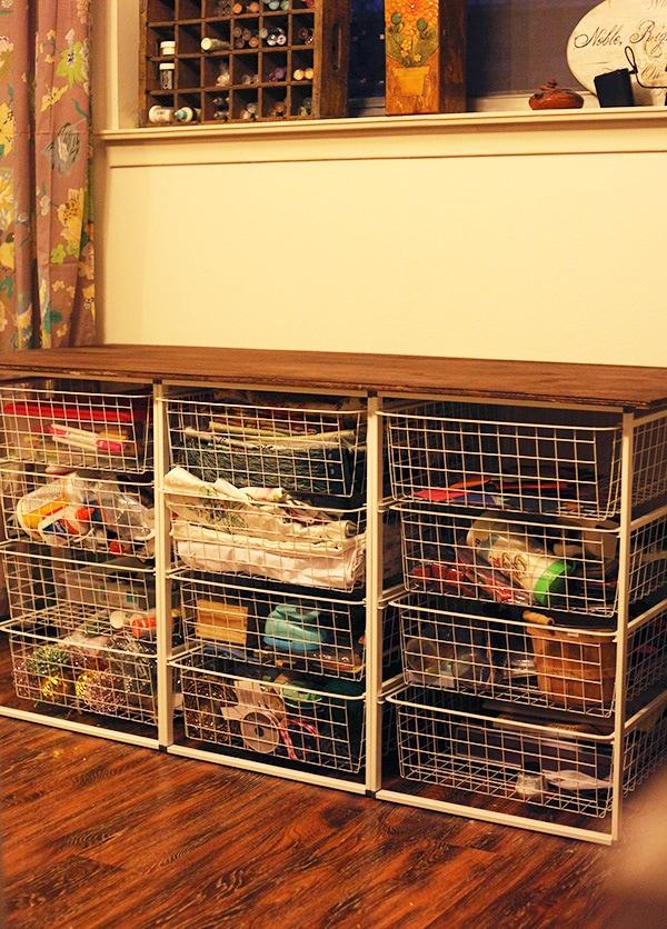 craft room storage after