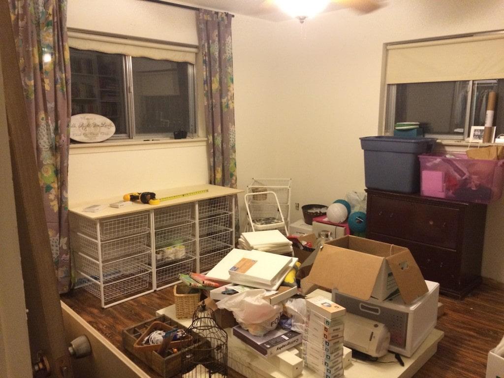 craft room unpacking