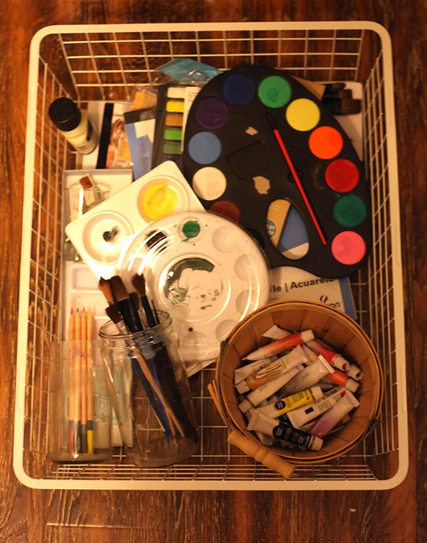 craft room water color drawer