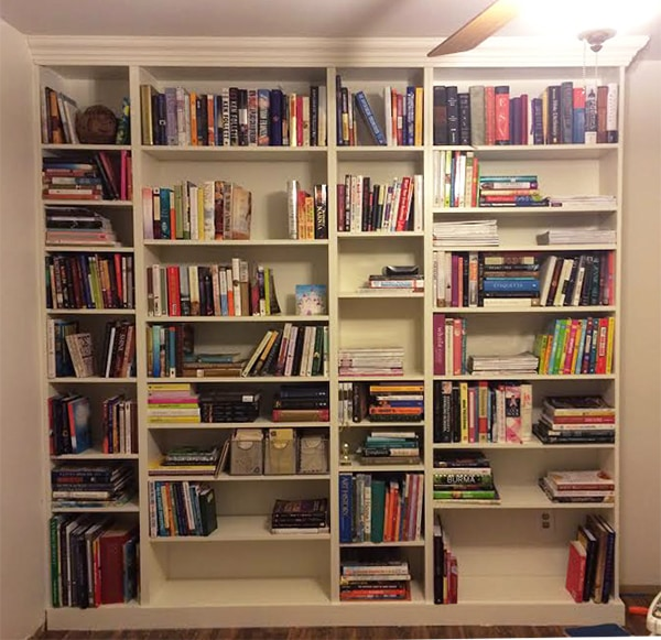 Diy Home Bar Built From Billy Bookcases: DIY Ikea Billy Bookcase Built In Bookshelves Part 2
