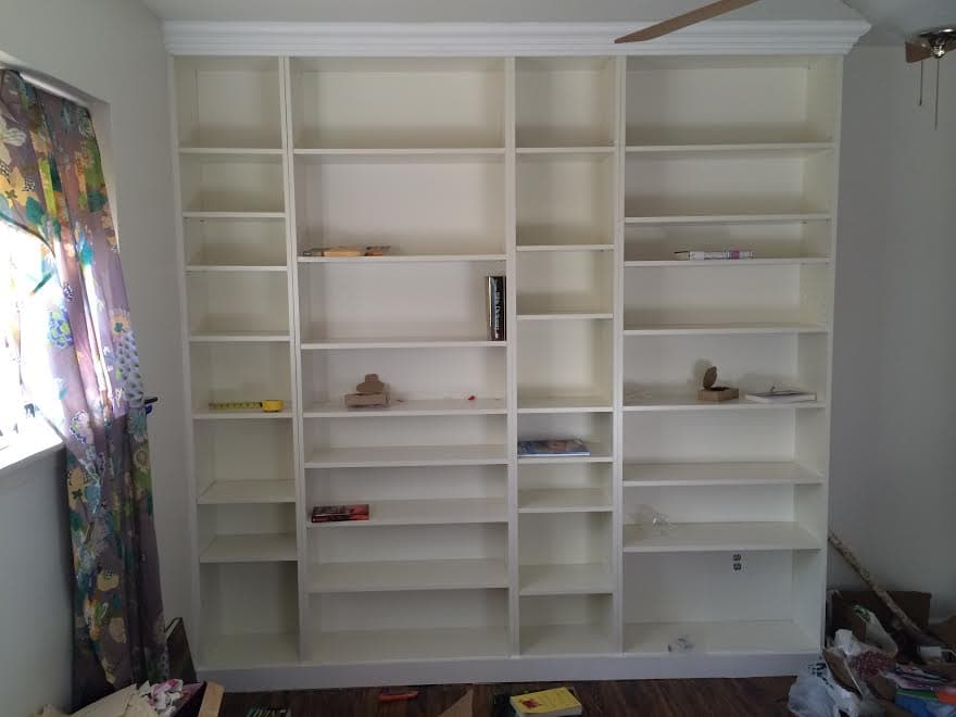 DIY Ikea Billy Bookcase Built In Bookshelves Part Run To Radiance - Diy billy bookcase