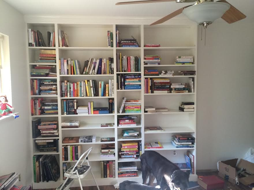 DIY Ikea Billy Bookcase Built In Bookshelves Part  Run To Radiance - Ikea billy bookshelves