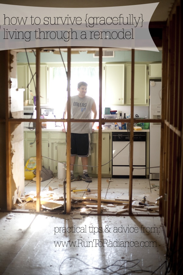how to live in a remodel