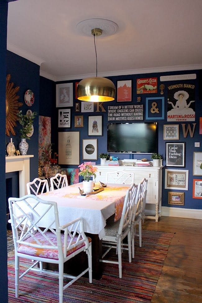 My vote for color of the year run to radiance for Navy dining room ideas