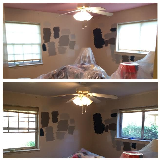 painting ceiling white before after