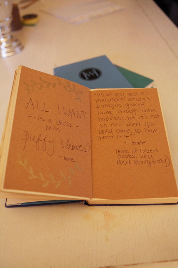 A DIY journal made from a hardback book.