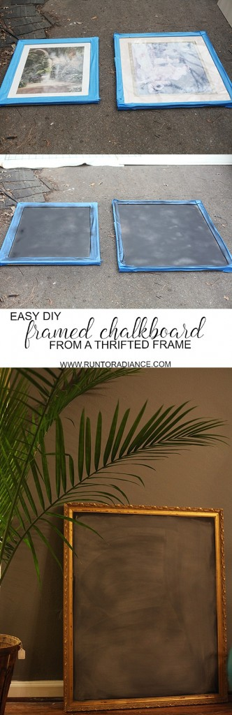 This is so brilliant! I have a bunch of old frames that I'm going to use this diy on to make a diy chalkboard. I had no idea it was this easy.