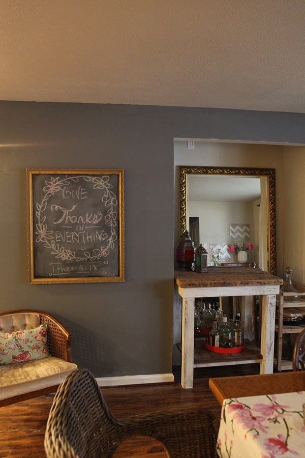 how to build a chalkboard frame