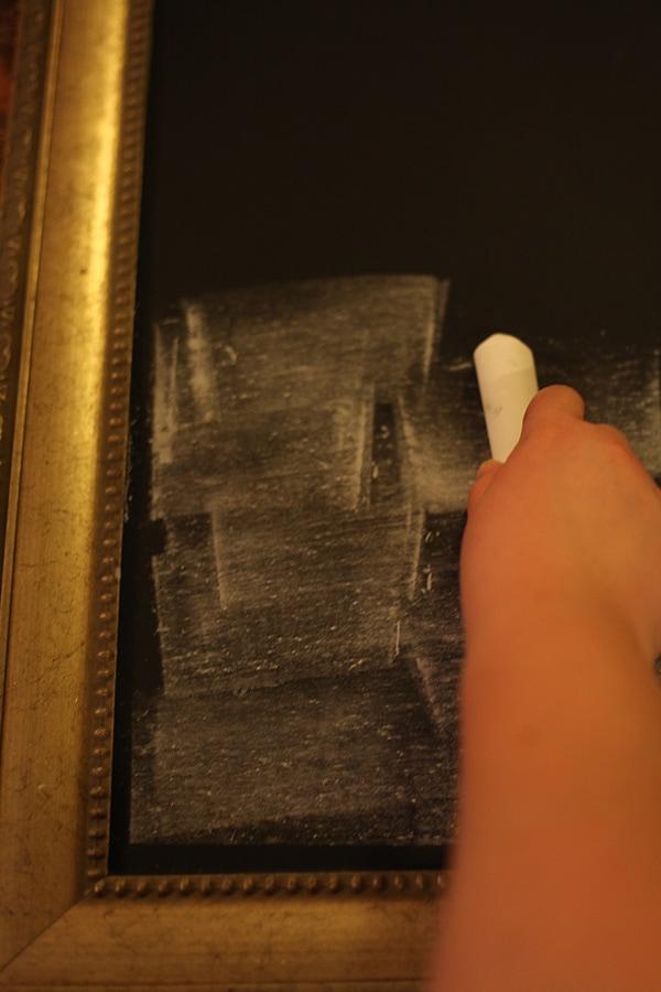 How To Make A Framed Chalkboard Easy Diy