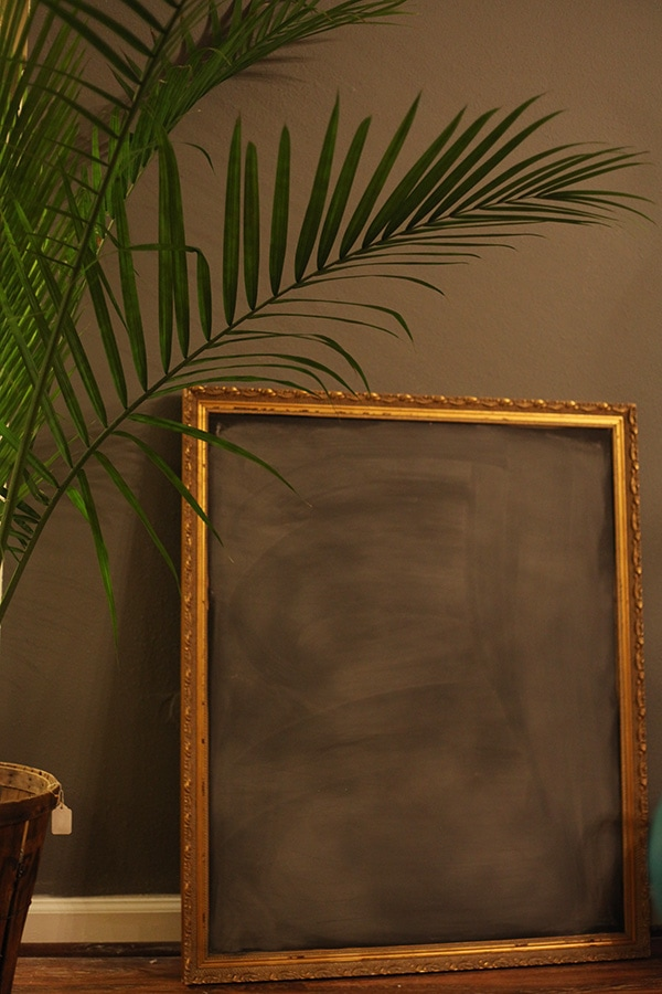The End of the Chalkboard Wall…and How to Make a Thrifted Frame into a Chalkboard