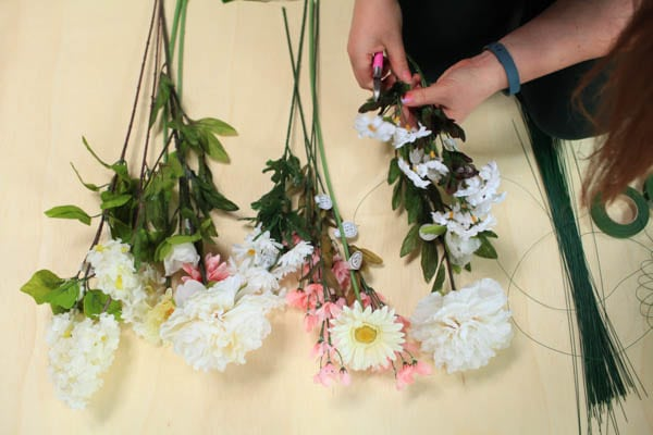 How To Make A Flower Crown With Silk Flowers