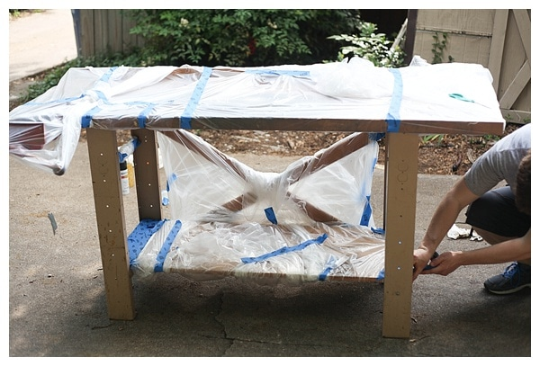 how to spray paint vintage furniture_0004