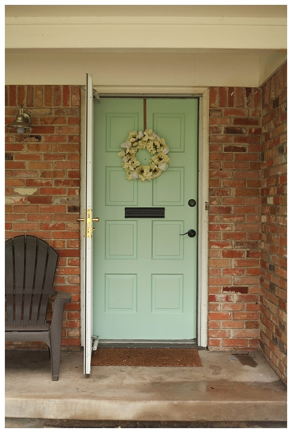 Mint Green Painted Brick