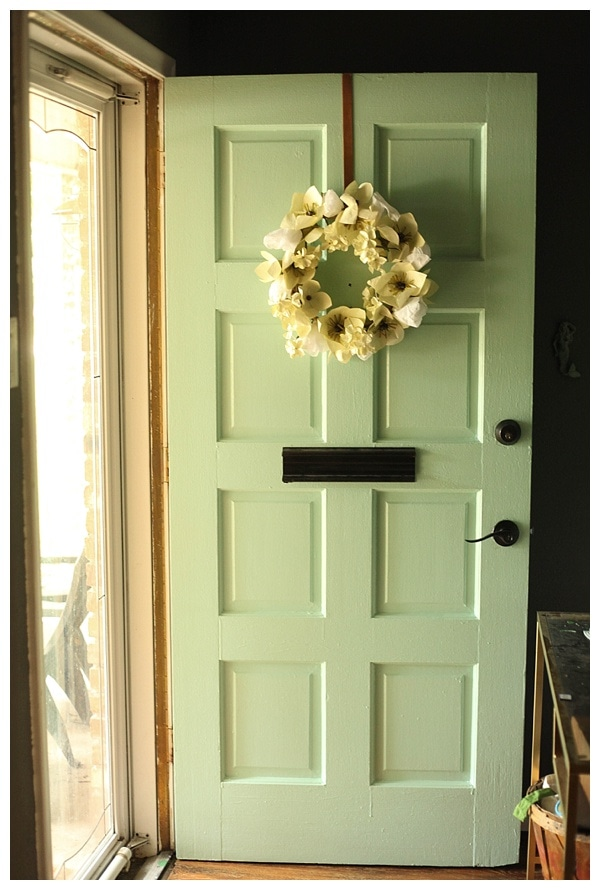 mint front door- click through for info \u0026 instructions ... & Our New Mint Front Door - Run To Radiance