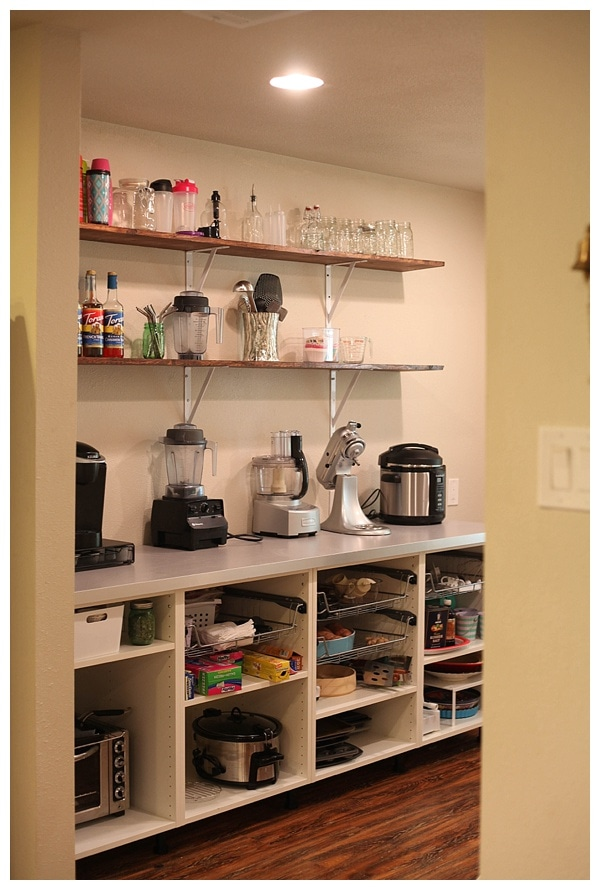 Open Shelf Pantry Storage: Adding Open Shelving In The Pantry