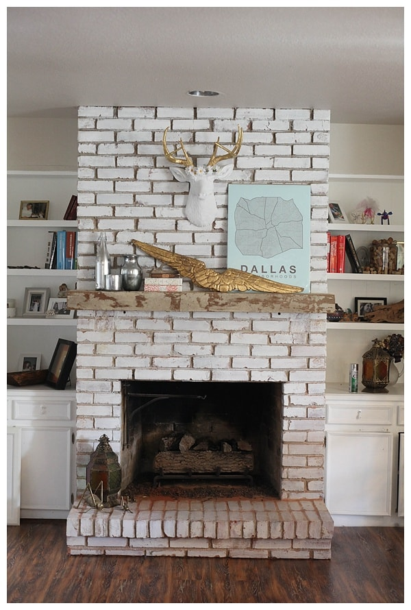 distressed floating fireplace mantle_0009