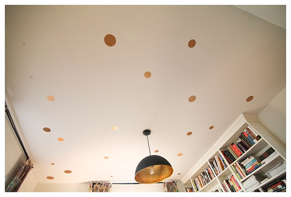 diy gold polka dot ceiling—no paint required! Click through for instructions_0007