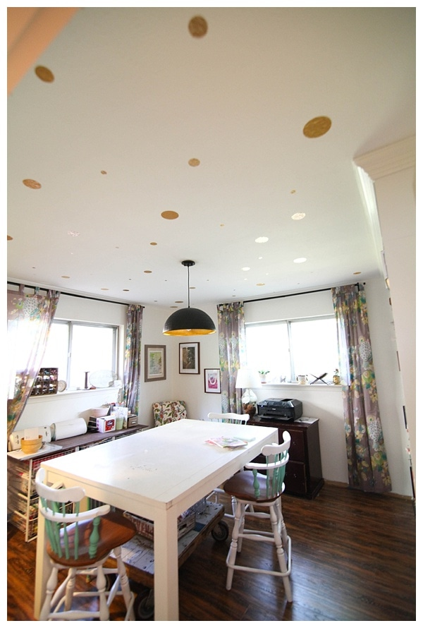 diy gold polka dot ceiling—no paint required! Click through for instructions_0010