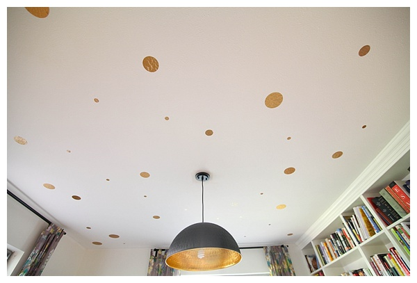 diy gold polka dot ceiling—no paint required! Click through for instructions_0015