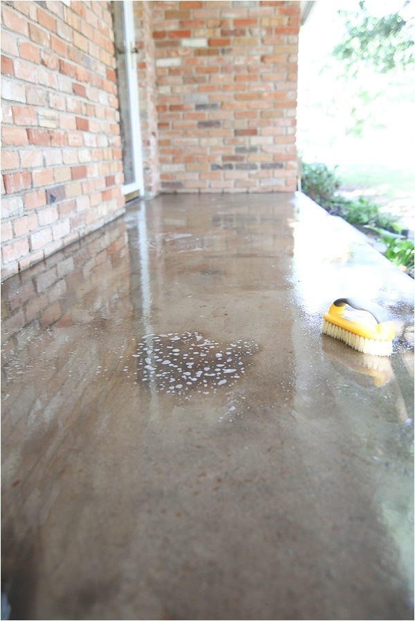 How to Clean Concrete (the Easy Way!) - Porches, Patios