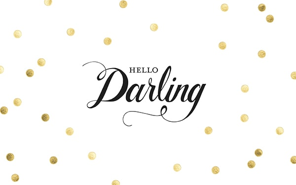 Pretty background! Gold polka dot free desktop wallpaper that says hello Darling