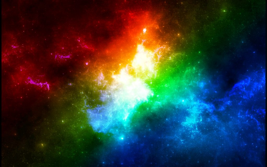 Beautiful rainbow outer space wallpaper HD
