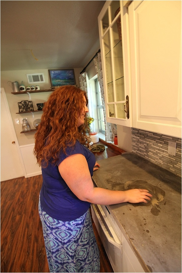 Removing Stains Amp Resealing Concrete Countertops Run To
