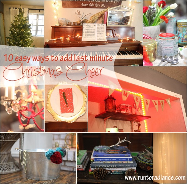 easy cheap ways to decorate for Christmas from www.runtoradiance.com