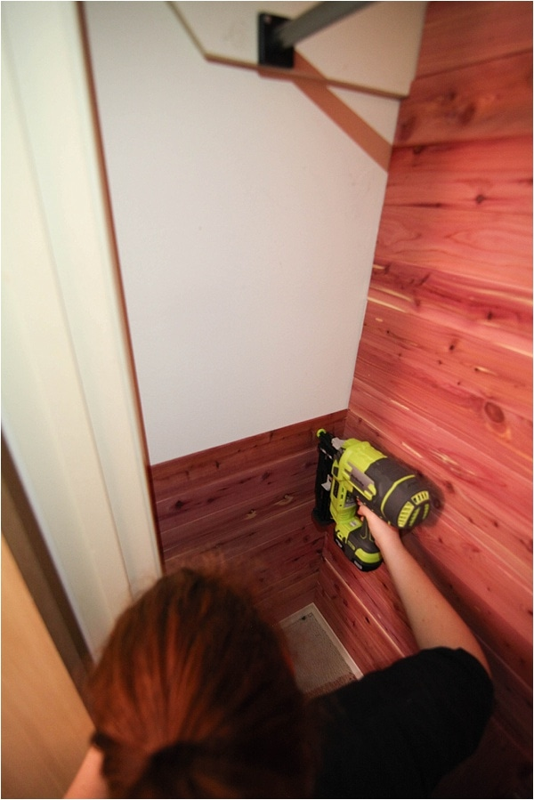 How To Instal Cedar Planks In Closet_0012