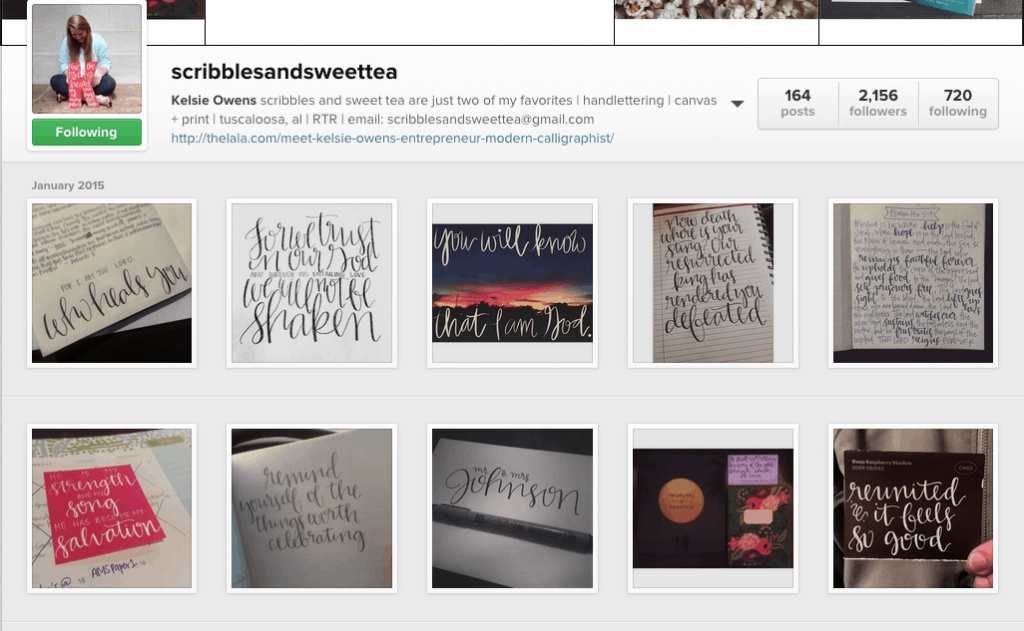 calligraphy instagram