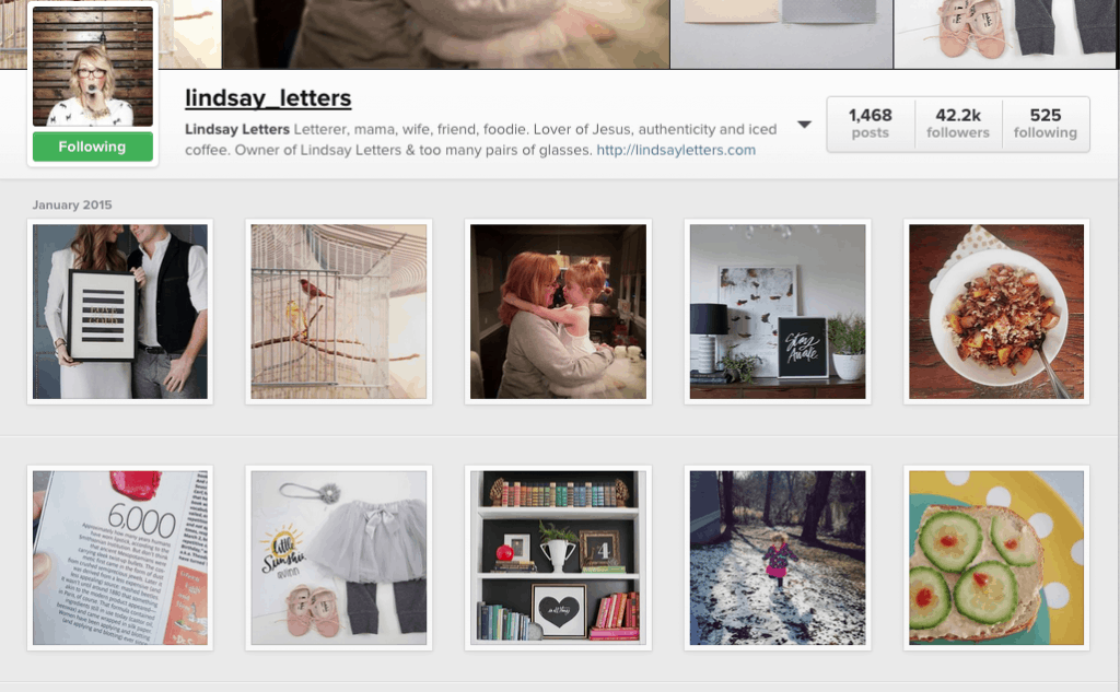 lindsay letters instagram