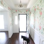 Floral Wallpaper Entryway Makeover