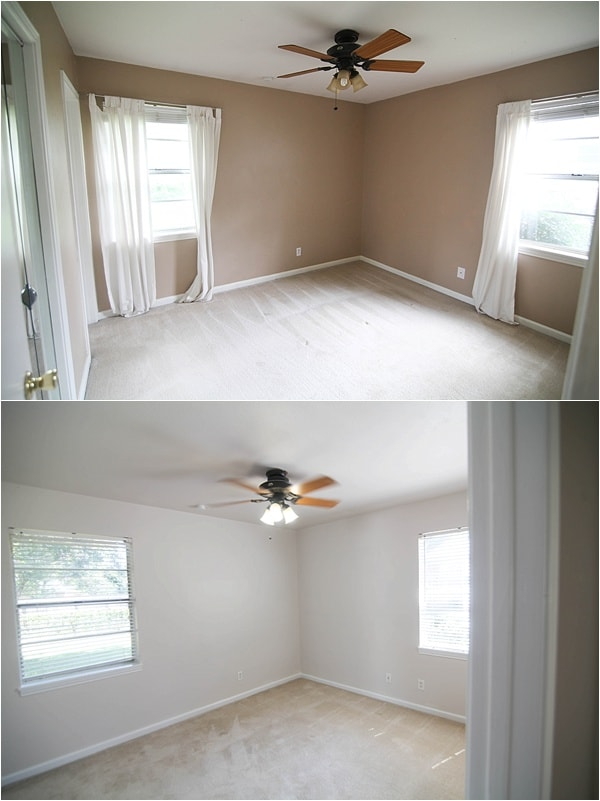 This flip house went from drab to fab! From foundation to roof, every bit of this house was remodeled and flipped—the after pictures are so much better!