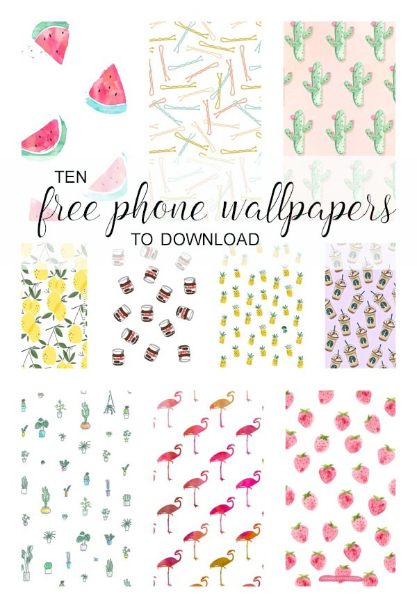 Collage of cute iPhone wallpapers to download for free!