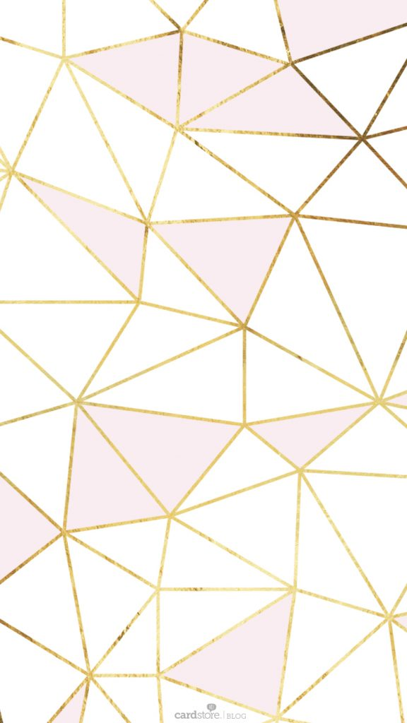 Girly wallpapers - this pretty wallpaper has pink and gold with white and is abstract.